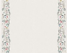 Lewis & Irene - Snow Day - 6004 - Pale Grey Scenic Border Print  - C41.1 - Cotton Fabric